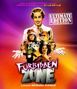 Forbidden-Zone-Movie-Poster-Richard-Elfman-Original-Music-Susan-Tyrell-Herve-Villechaise-Frenchy-Chicken-Boy-Oingo-Boingo-Film-Occult-Black-and-white-to-Colour-Comedy-Musical-Fantasy-Sex-MVD-Entertainment-Group